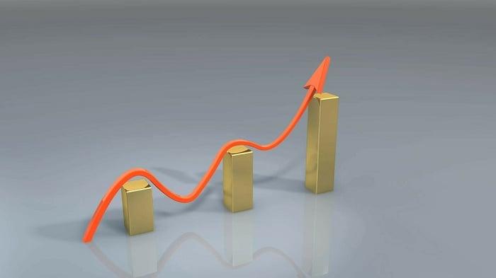 Rising financials graph