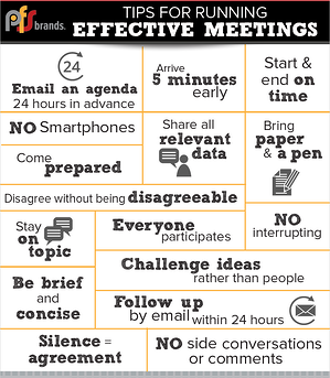 PFSbrands tips for holding an effective meeting