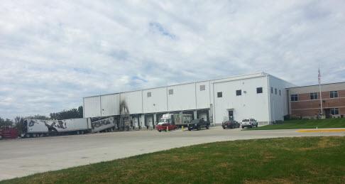 PFS warehouse tractor trailer fire